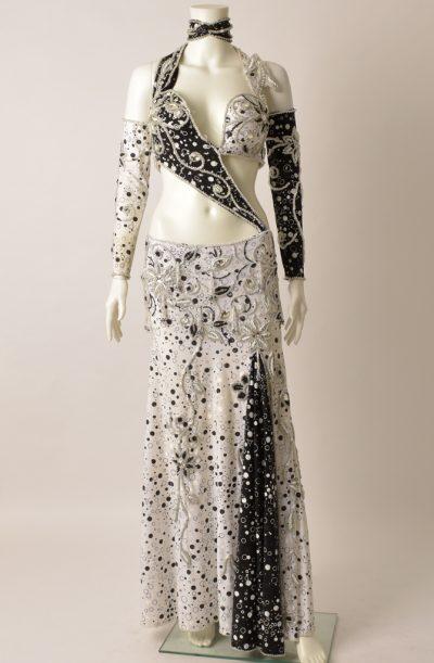 Preloved Belly Dance Costume - Black & White