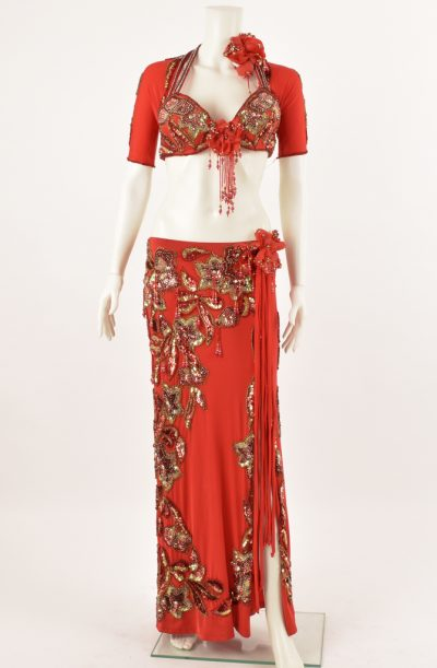 Preloved Belly Dance Costume - Red Pharaonix