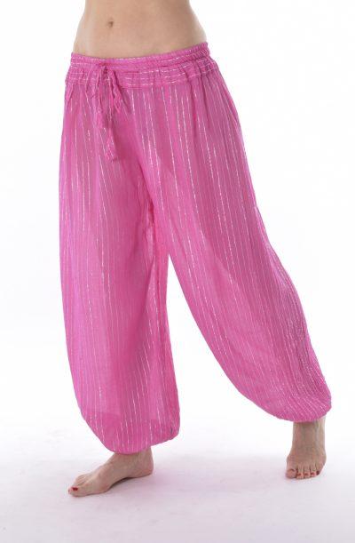 Lurex Harem Pants - Pink