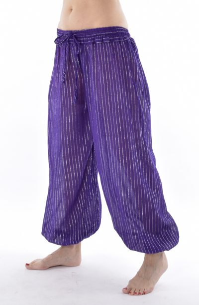 Lurex Harem Pants - Purple