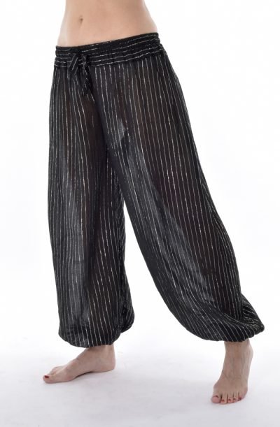 Lurex Harem Pants - Black
