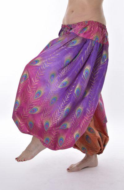 Pantaloon / Harem Pants - Pink Peacock