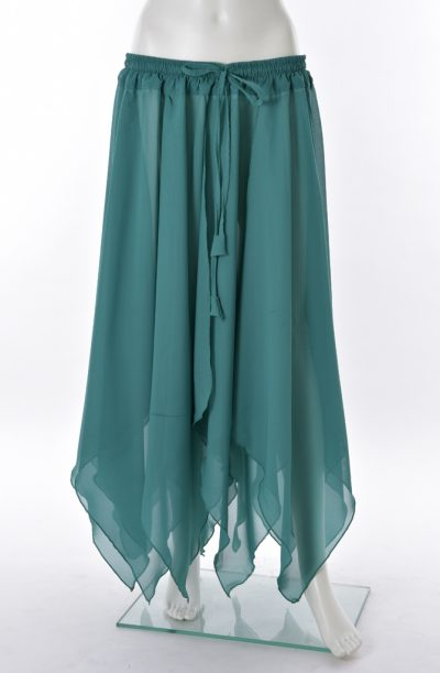 Chiffon Petal Skirt - Sea Green