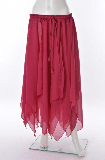 Chiffon Petal Skirt - raspberry