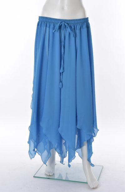 Chiffon Petal Skirt - Sky Blue