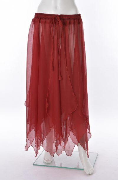 Chiffon Petal Skirt - wine
