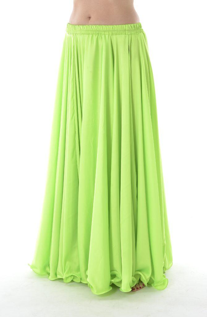 Silk Satin Skirt - Acid Green