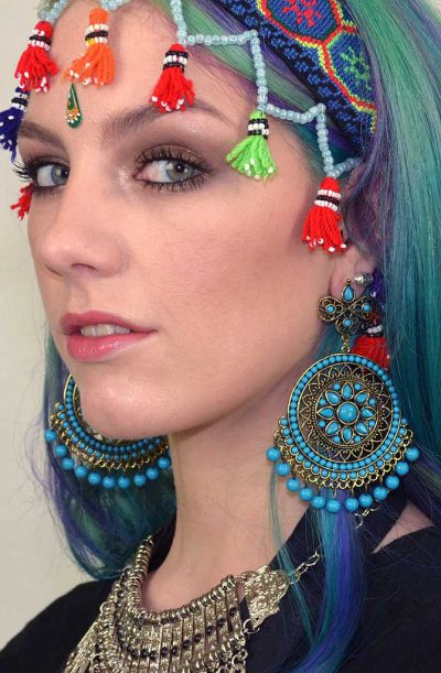 Mandala Earrings - Turquoise