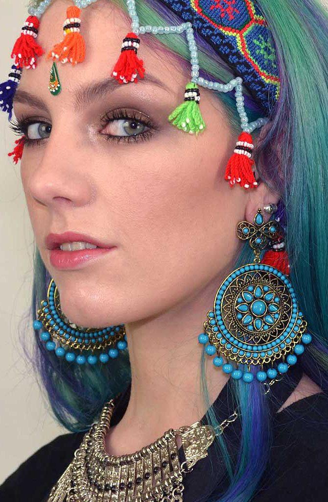 Mandala Earrings - Turquoise