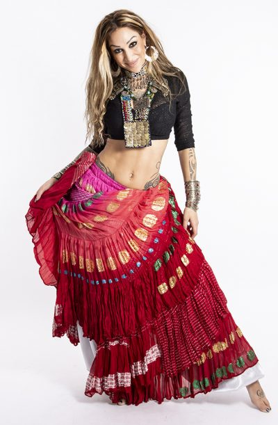 Bollywood 22yrd Skirt - Red
