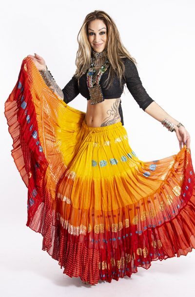 Bollywood 22 yard Skirt - Orange