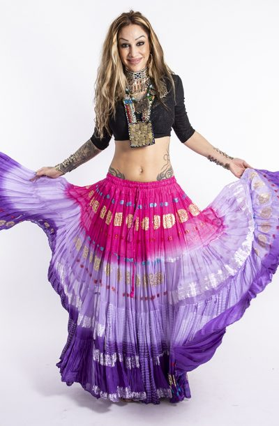 Bollywood 22yrd Skirt - Purple