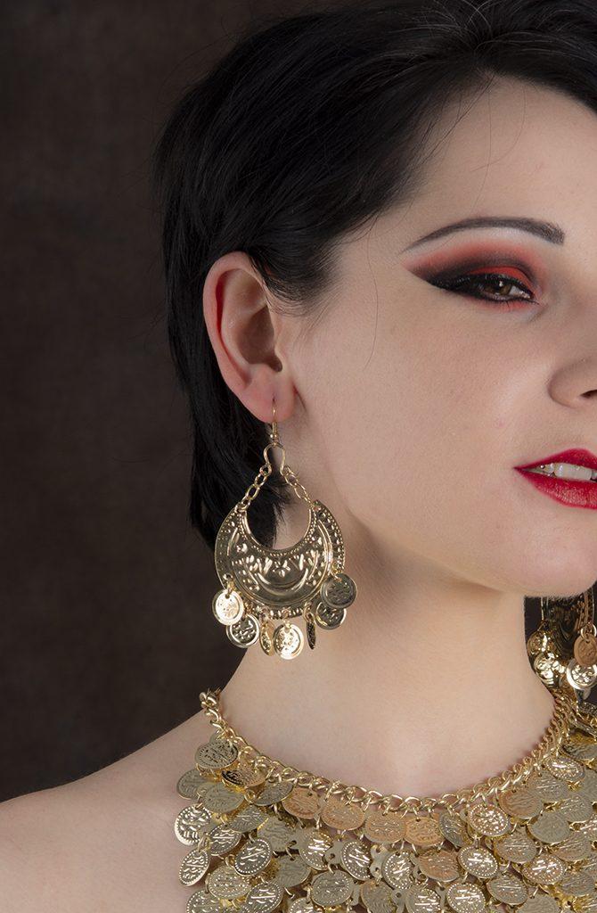 Egyptian Earrings - Moon & Coins
