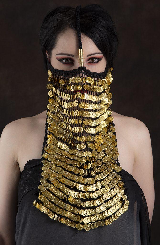 Alexandrian Burqa / Yashmak - Gold
