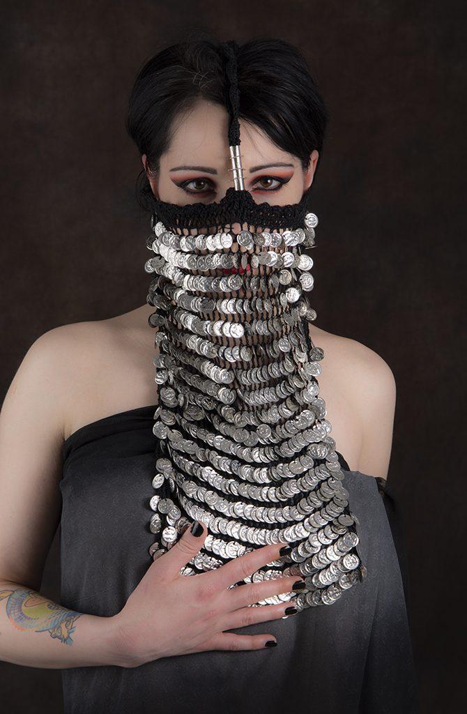 Alexandrian Burqa / Yashmak - Silver