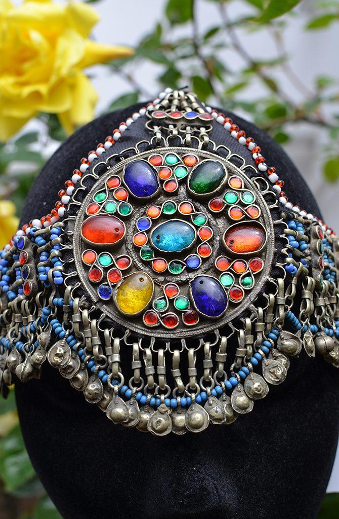 Old Kuchi Headdress - Rianbow