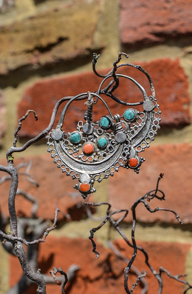 Old Wazari Silver Earrings