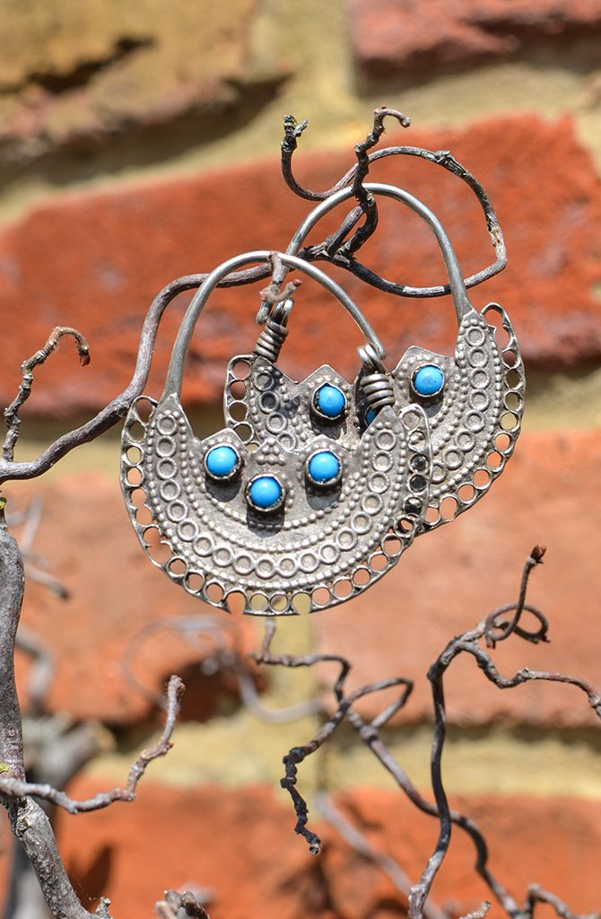 Old Wazari Silver Earrings - Style 2