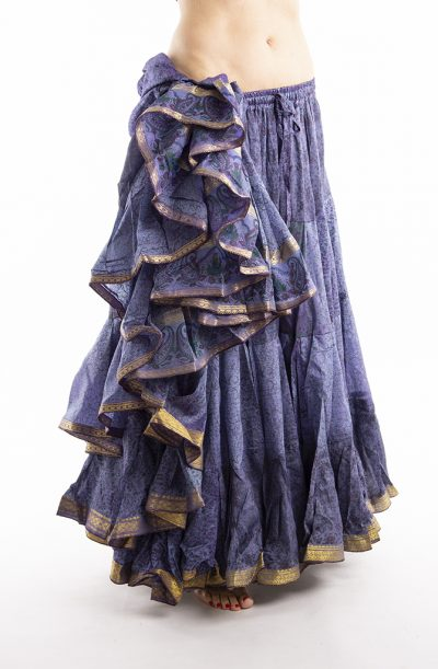 25 Yard Silk Sari Tribal Skirt - Lavender