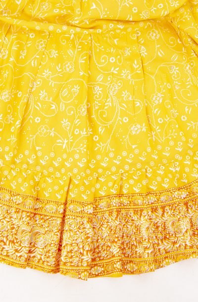 Jodha Maharani Skirt - Yellow