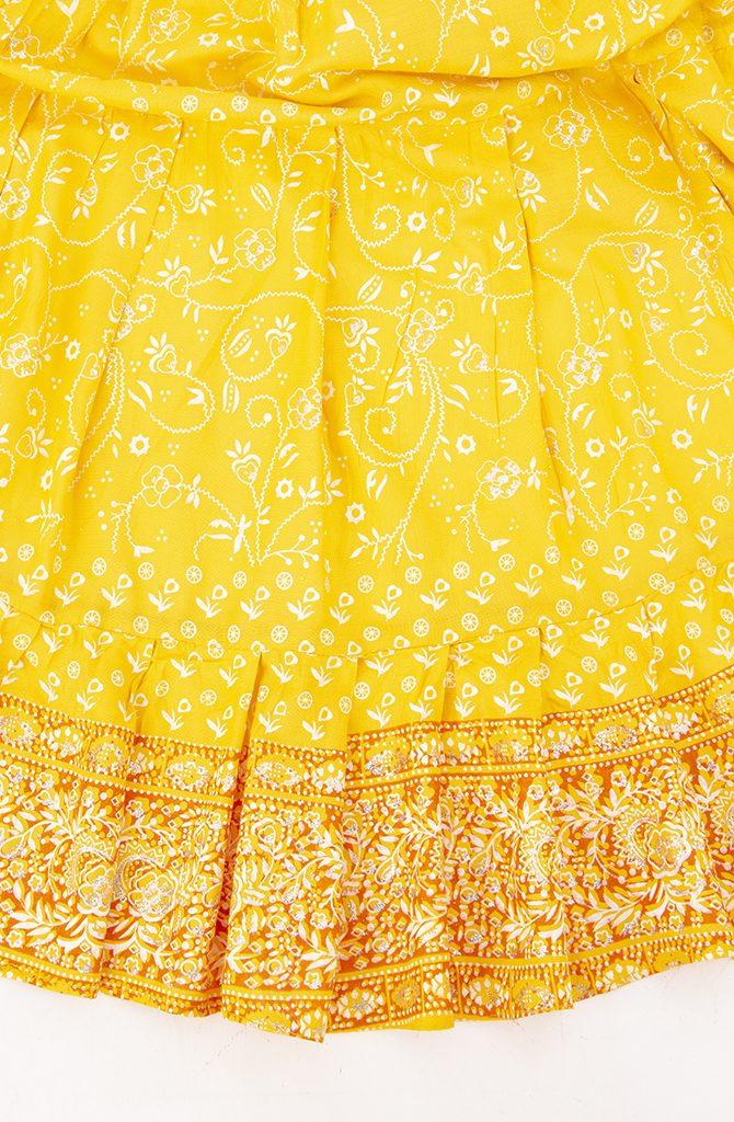 Jodha Maharani Skirt - Yellow