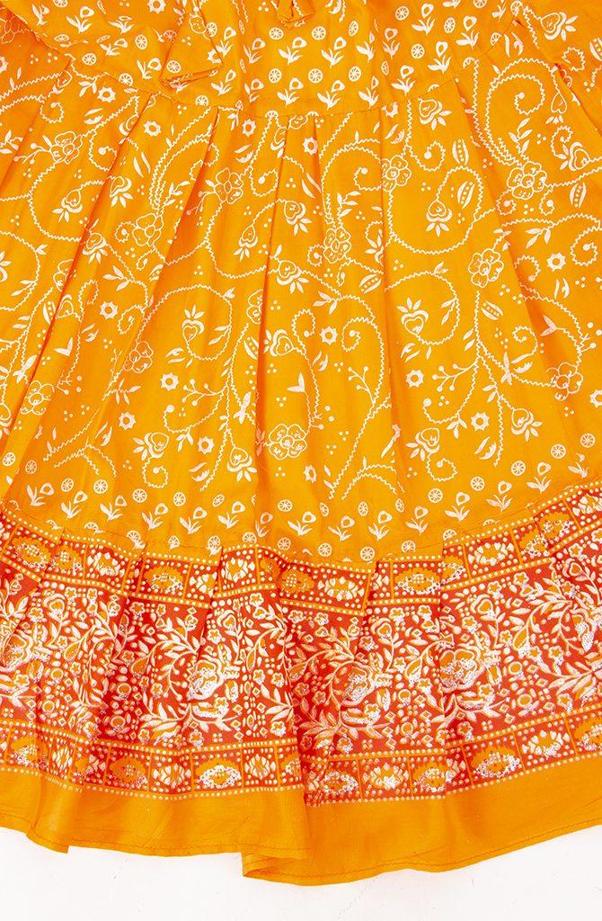 Jodha Maharani Skirt - Orange