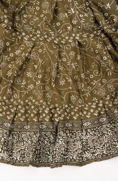 Jodha Maharani Skirt - Olive