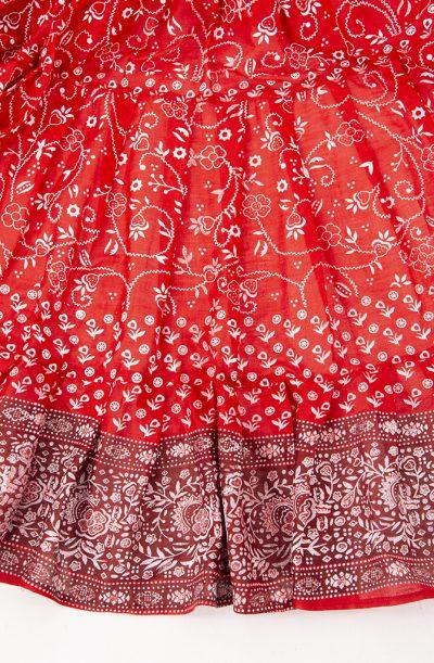 Jodha Maharani Skirt - Red