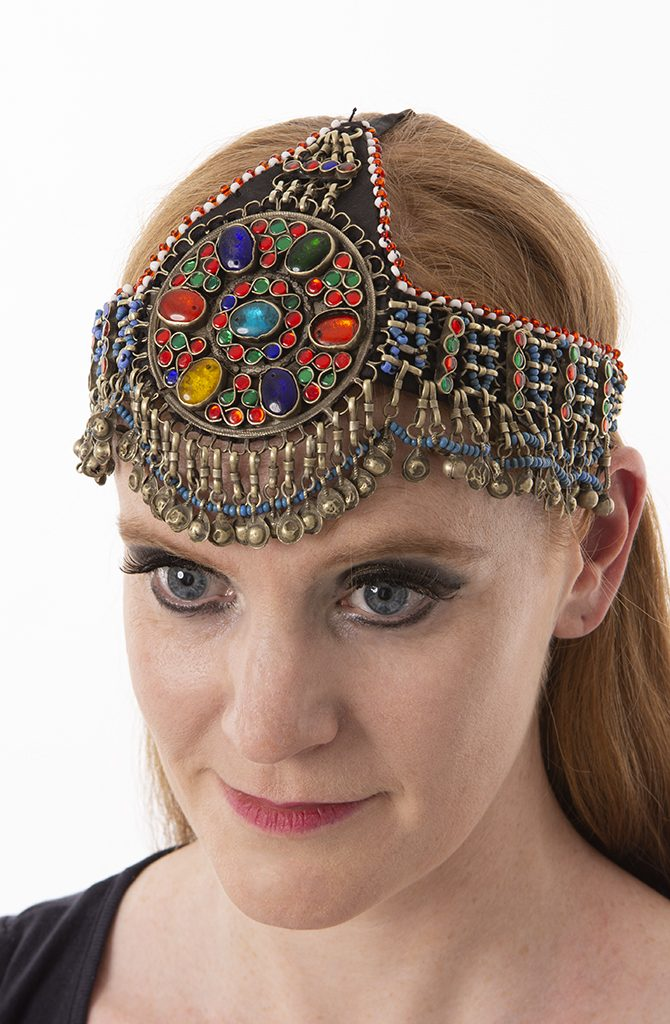 Old Kuchi Headdress - Rainbow