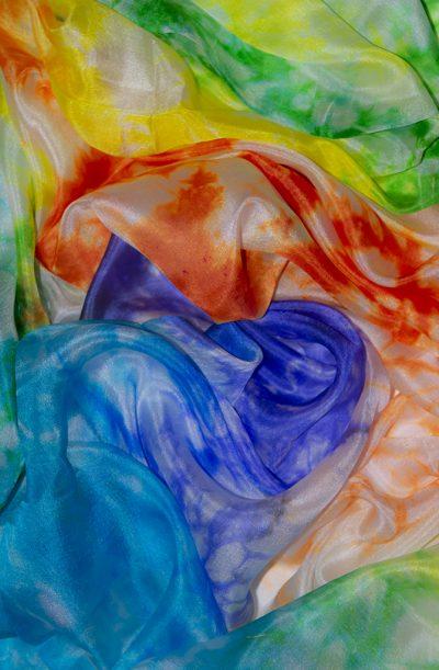 Silk Veil Tie Dye - Multi