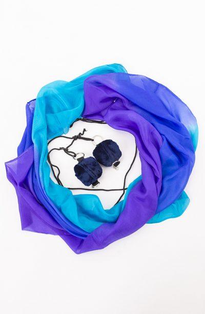 Poi Veil Set - Purple, Blue & Turquoise