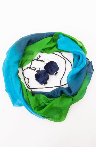 Poi Veil Set - Green, Teal & Turquoise