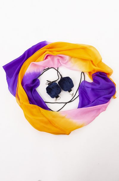 Poi Veil Set - Purple, Pink & Orange
