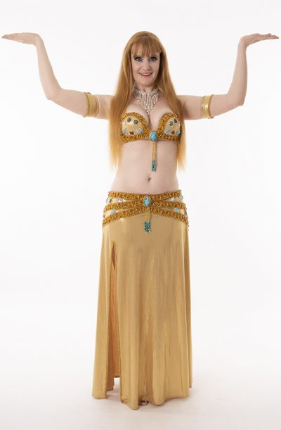 Belly Dance Costume - Golden Scarab