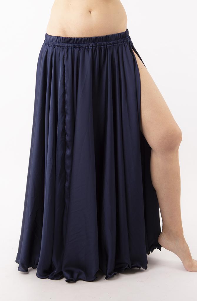 Silky Satin Skirt - Dark Navy