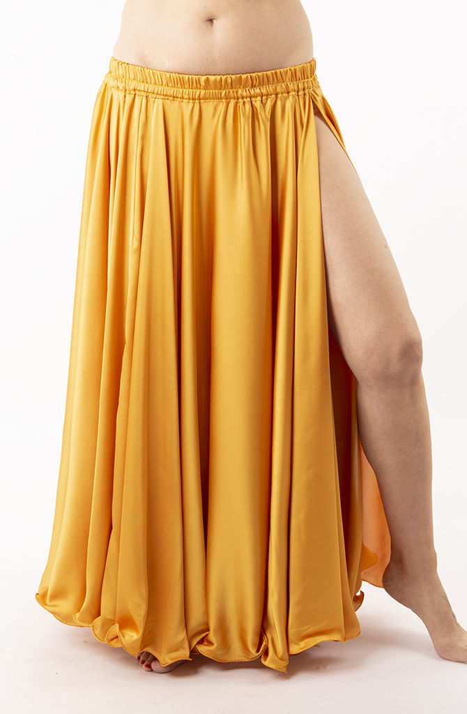 Silky Satin Skirt - Deep Gold
