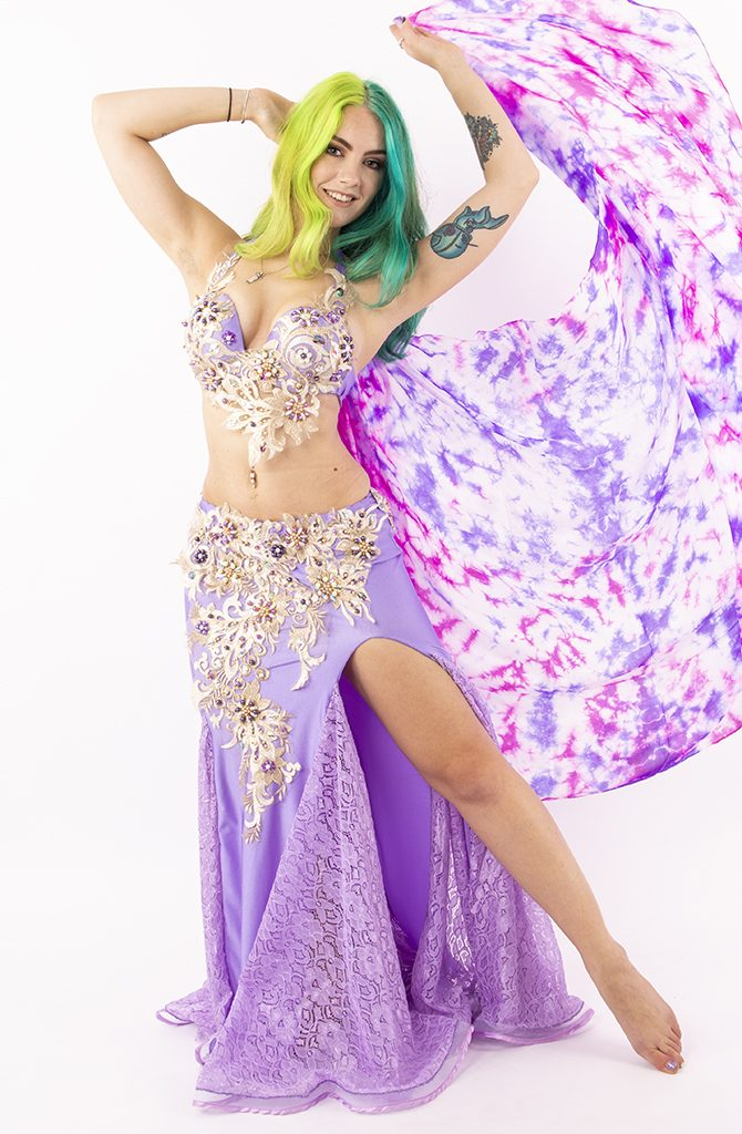 Belly Dance Costume - Lilac & Lace