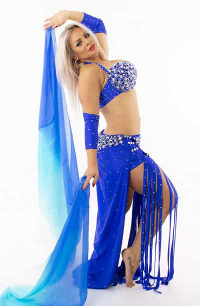 Belly Dance Costume - Electric Blue