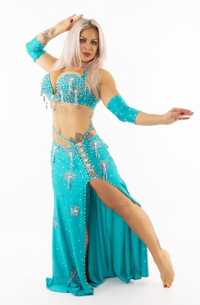 Belly Dance Costume - Turquoise Temptation