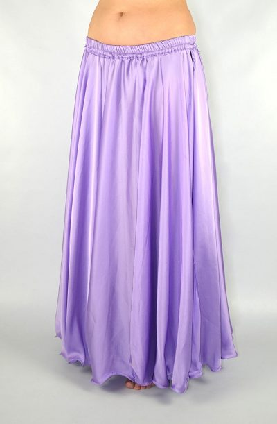 Silky Satin Skirt - Lilac