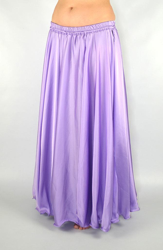 Silky Satin Skirt - Lilac