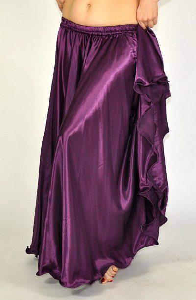 Silky Satin Skirt - Aubergine