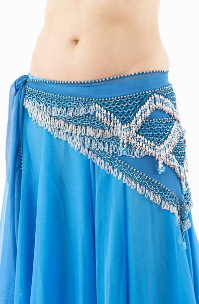 Belly Dance Hip Belt - Turquoise & Silver