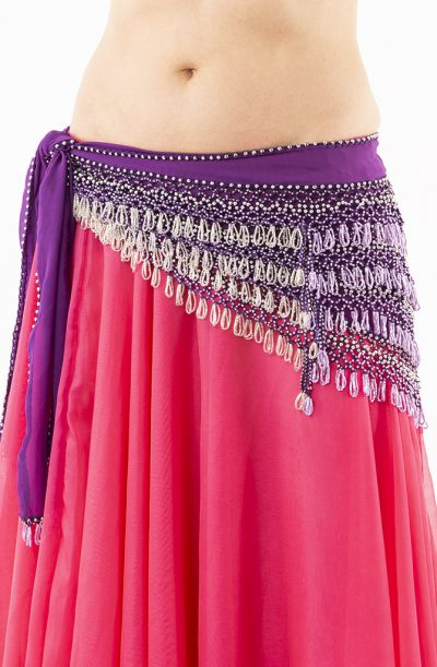 Belly Dance Hip Belt - Purple & Lilac