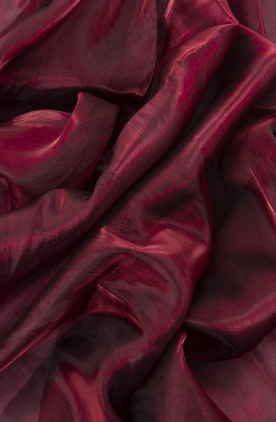 Organza Veil - Burgundy