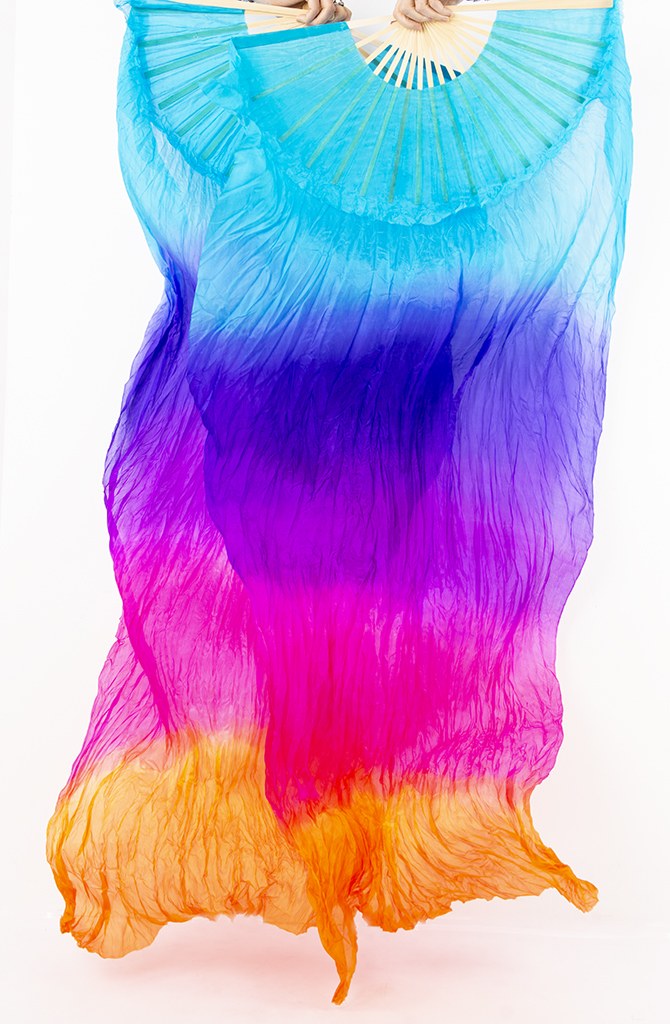 Fan Veils - Multi Coloured 1.8m