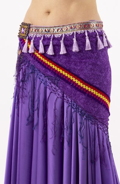 Tribal Chiffon Hip Scarf - Purple