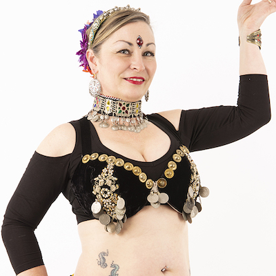 Tribal Fusion Choli - Drop Shoulder in Black