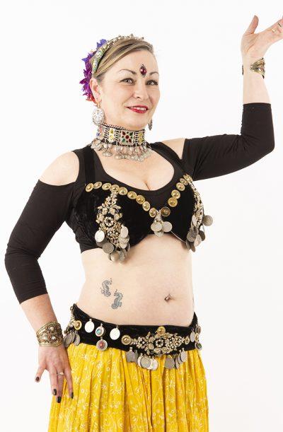 Tribal Fusion Bra & Belt Set - Jodha DD cup