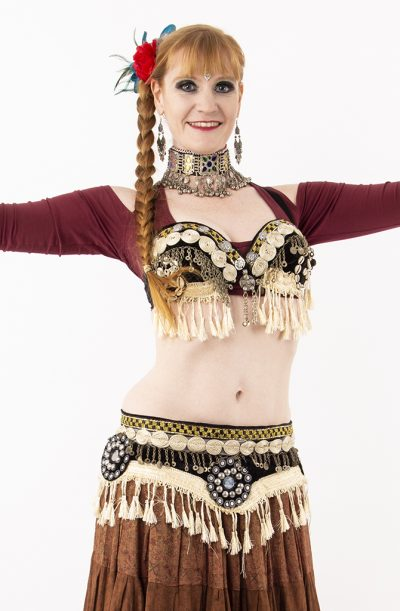 Tribal Fusion Bra & Belt Set - Kuchi Tassel